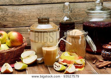Delicious Homemade Apple Juice.