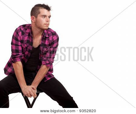 Man In Pink Flannel