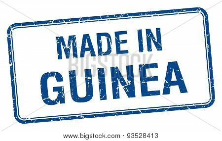 Made In Guinea Blue Square Isolated Stamp