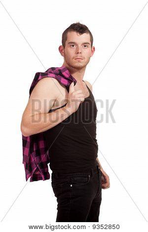 Man With Pink Shirt