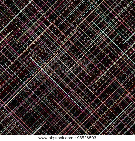 Contrast seamless pattern. Random lines. Vibrant colors. Plaid abstract texture.