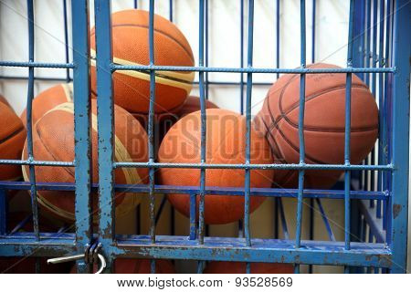 Old Basketball In Jail