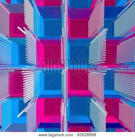 Colour Cubes Glass Rod