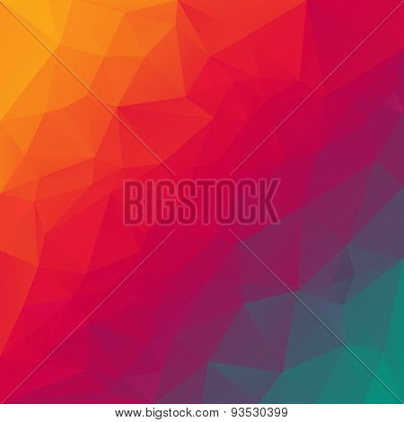 Vector Polygonal Background Pattern - Triangular Design In Rainbow Spec