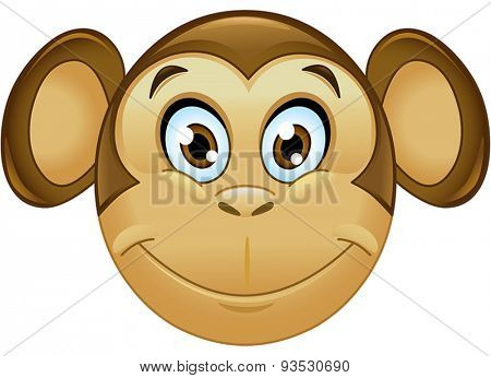 Smiling monkey face