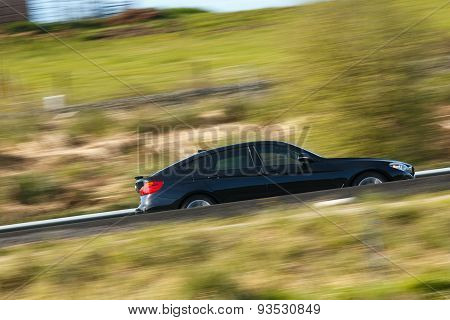Car moving at high speed