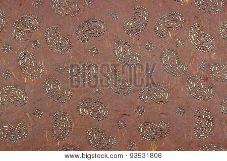 Dark Red Brown Garnet Redwood Indian Textured Handmade Paper Background
