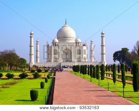 Taj Mahal mausoleum in Agra, India