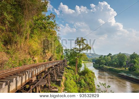 Death Railway and Bridge of Death at River Kwai, was built by the Empire of Japan in 1943, on World War 2 in Kanchanaburi, Thailand.