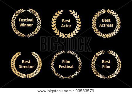 Film awards wreaths