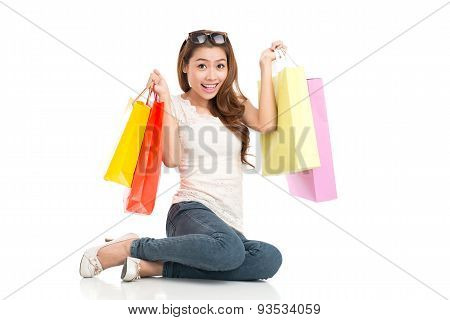 Excited Shopaholic