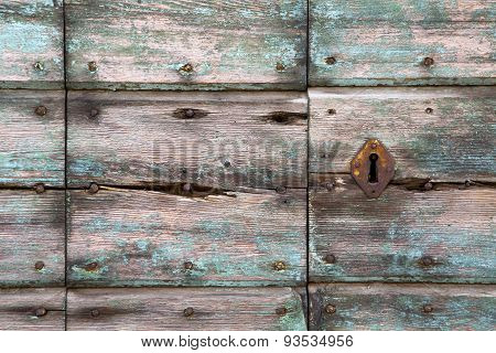 Knocker In A  Door Curch   Wood Lombardy   Lonate Pozzolo