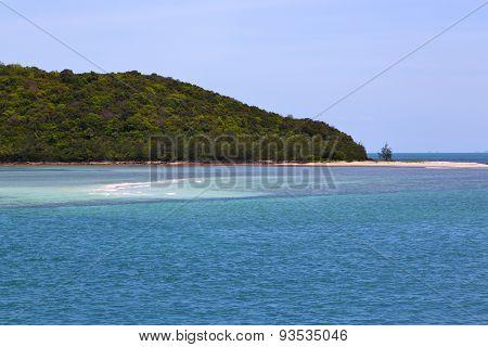 South China   Thailand Kho Phangan     Coastline Green And Tree