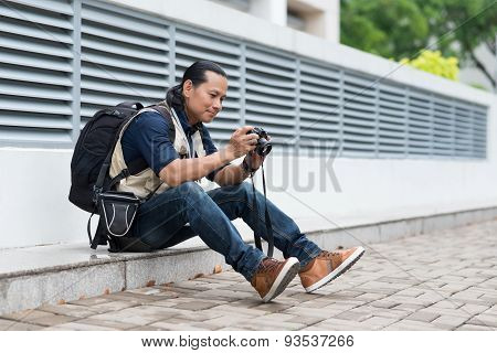 Looking at the photos