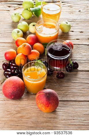 Variation Juices And Fresh Fruits