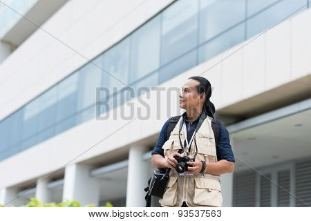 Middle-aged photographer