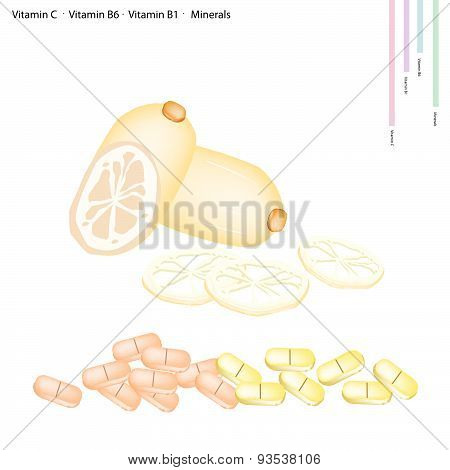 Lotus Roots With Vitamin C, B6 And B1