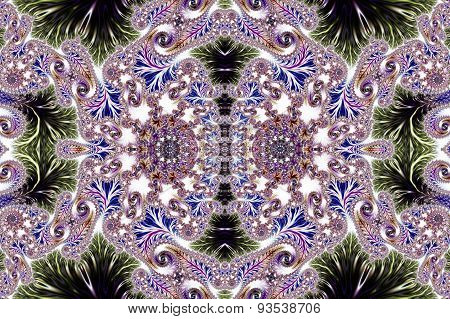 Multicolored Background With Spiral Pattern. Collection - Oriental Tales