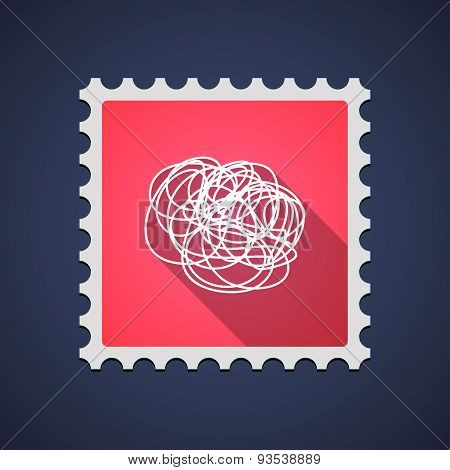 Mail Stamp Icon With A Doodle