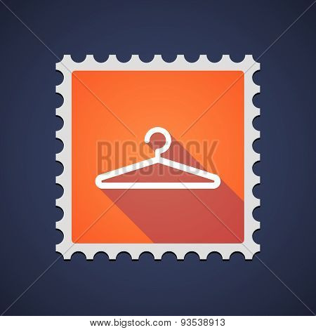Orange Mail Stamp Icon With A Hanger