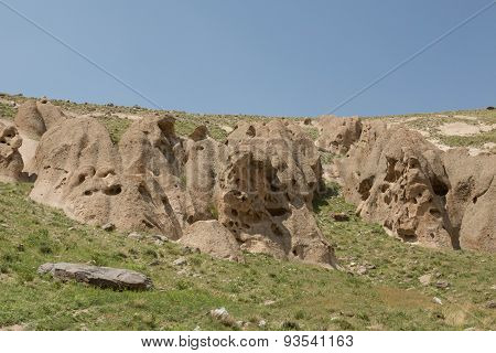 eroded formations