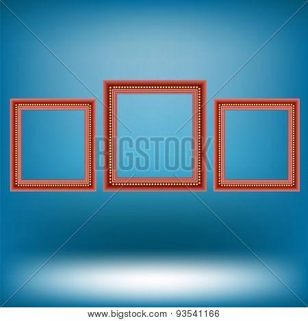 Set of Red Frames