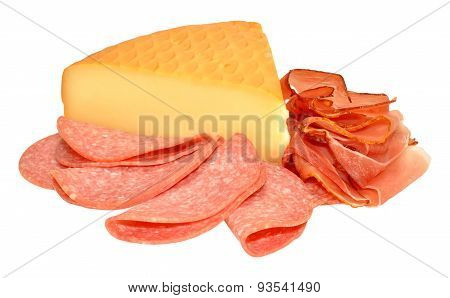 German Smoked Cheese And Salami Meat