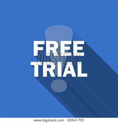 free trial flat icon