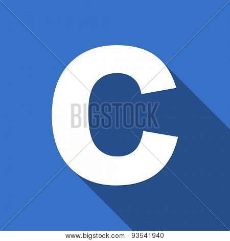 copyright flat icon