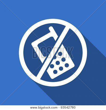 no phone flat icon no calls sign