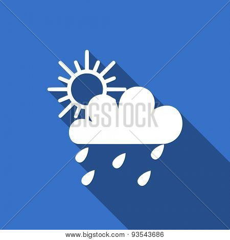 rain flat icon waether forecast sign