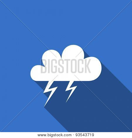 storm flat icon waether forecast sign
