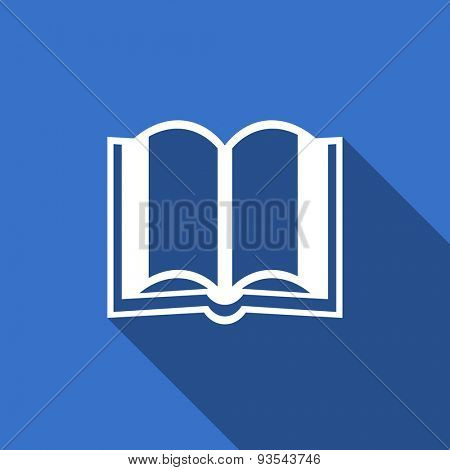 book modern flat icon with long shadow