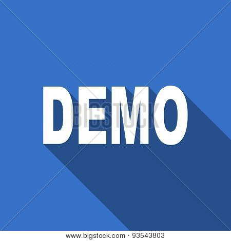 demo modern flat icon with long shadow