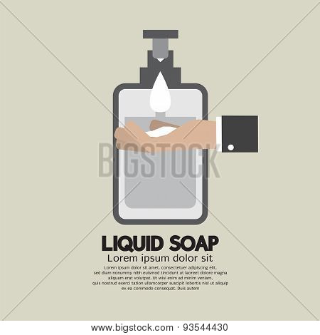 Hand With Liquid Soap.