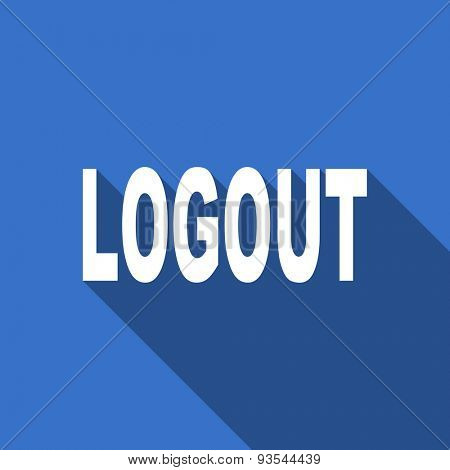 logout modern flat icon with long shadow
