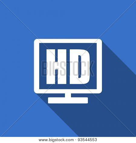 hd display modern flat icon with long shadow