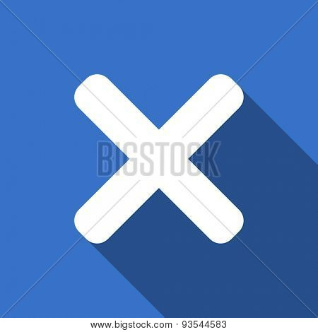 cancel modern flat icon with long shadow x sign