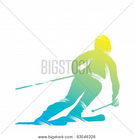 skiing player design