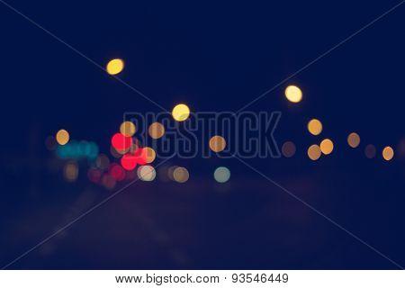 City night light blur bokeh bokeh background.
