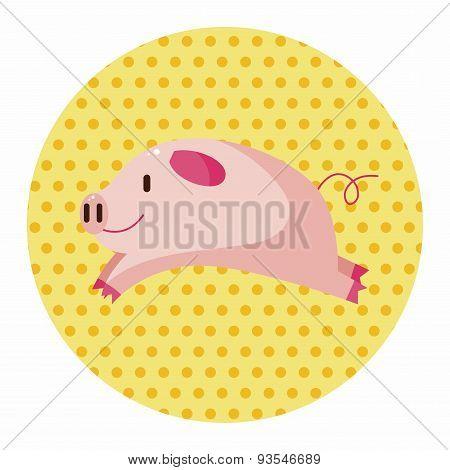 Animal Pig Cartoon Theme Elements