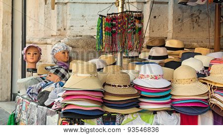 stall of hats