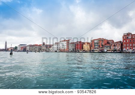 Beautiful view of water street and old buildings in Venice on May 26, 2015. its entirety is listed as a World Heritage Site, along with its lagoon.May 26 VENICE, ITALY