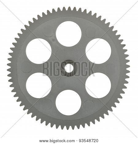 Plastic Pinion, Isolated On White Background