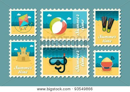 Summertime Stamp Set Flat