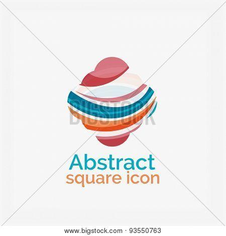 Raster version abstract geometric logo design