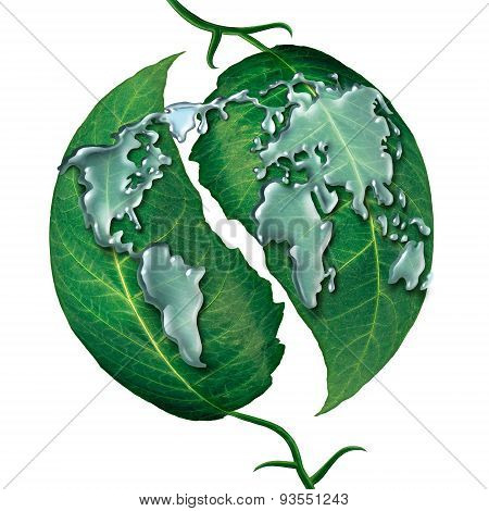 World Leaf Water Drop
