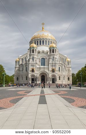 The Naval Cathedral Of Saint Nicholas In Kronstadt, St. Petersburg