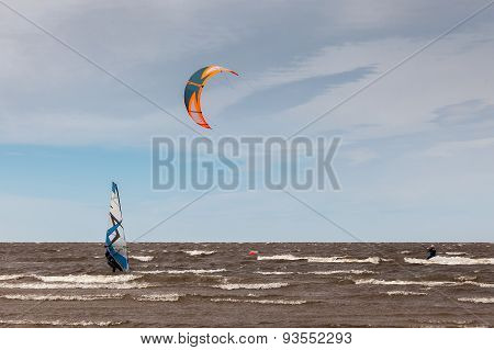 Kite surfing and windsurfing - extreme sport