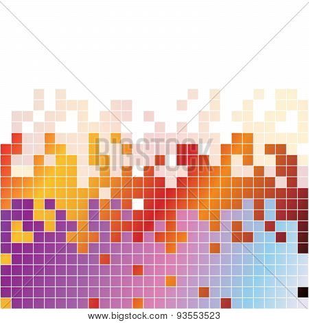 Abstract digital background with colorful pixels equalizer